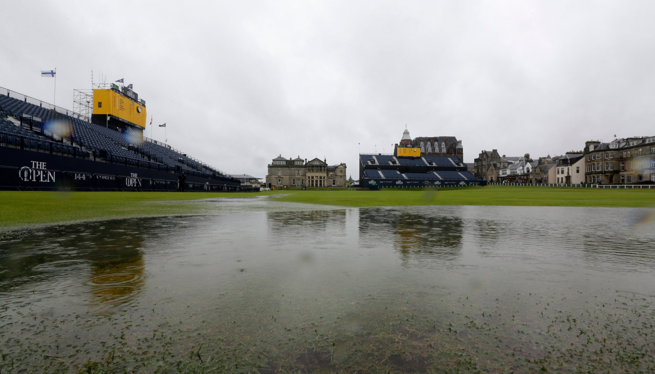 """""""Loch Swilcan"""" was one of the many additional hazards of the 2015 Open."""