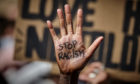A Black Lives Matter protest in Belgium.