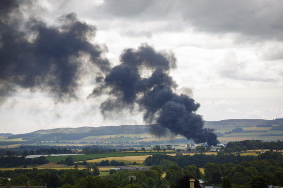 Councillor Angus Forbes took this dramatic photo of the Blairgowrie blaze.