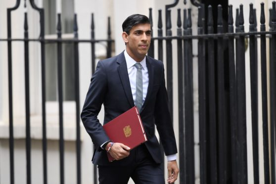 Rishi Sunak, Chancellor of the Exchequer.