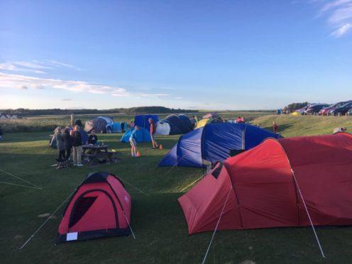 Campers descended on Elie Ruby Bay last month.