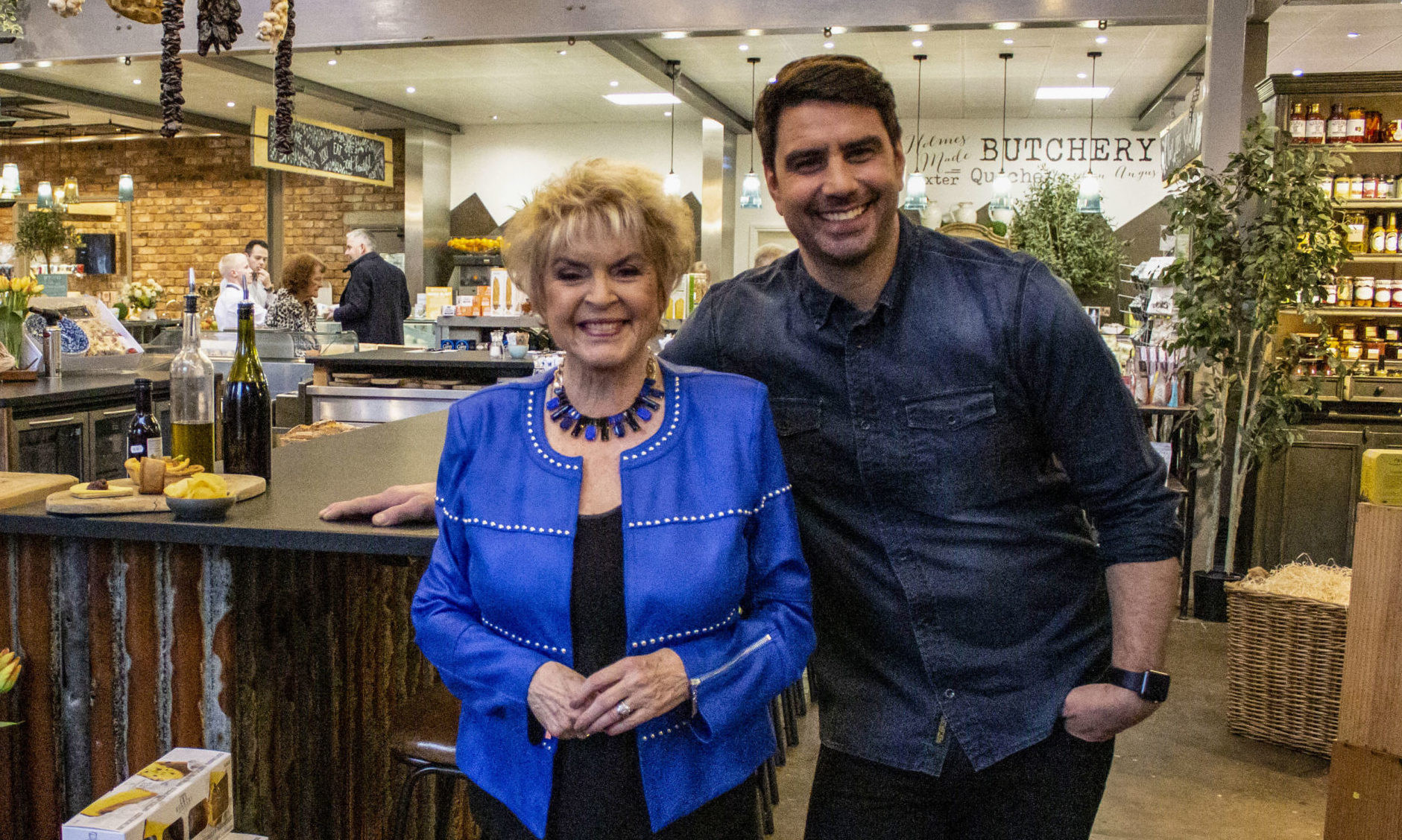 Gloria Hunniford and Chris Bavin.