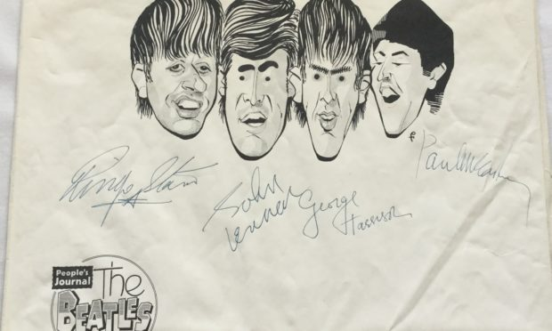 The autographed caricatures could fetch up to £15,000.