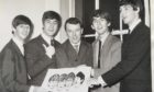 Artist Fraser Elder with the Fab Four in 1963.