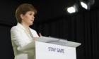 Nicola Sturgeon at one of the Scottish Government's daily coronavirus briefings.