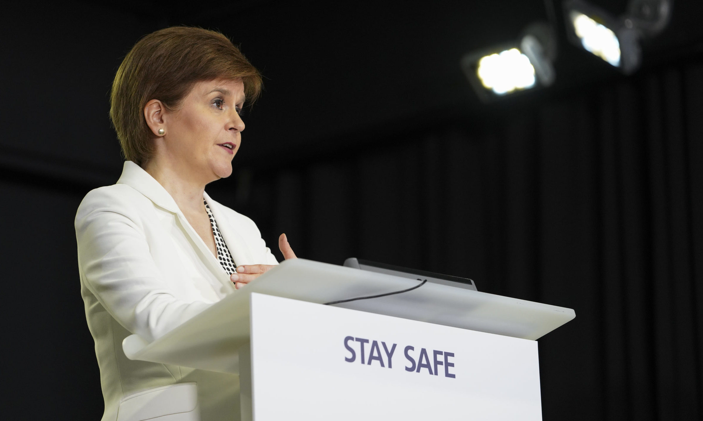 Nicola Sturgeon at one of the Scottish Government's daily coronavirus briefings.