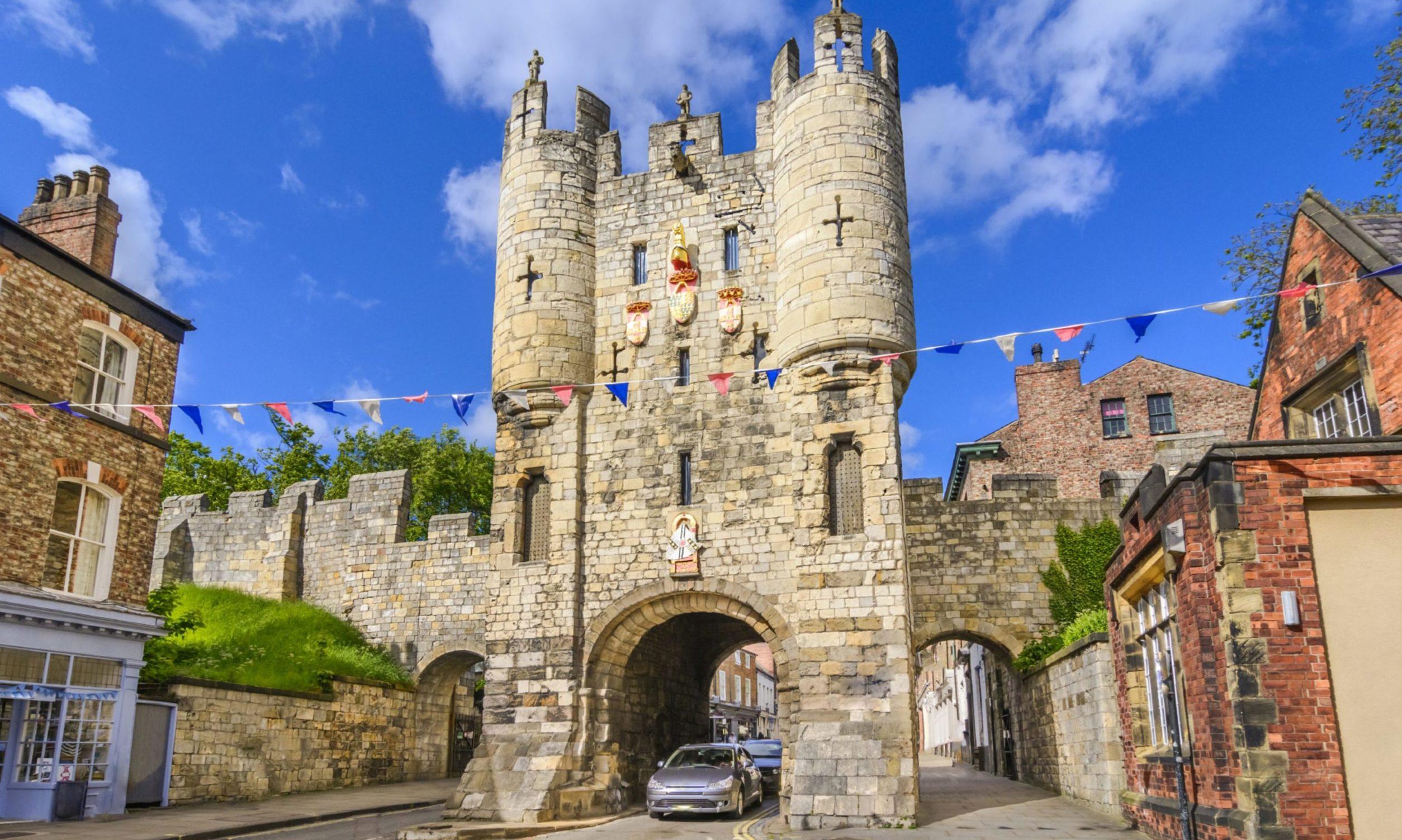 Micklegate, the old medieval gate of York.