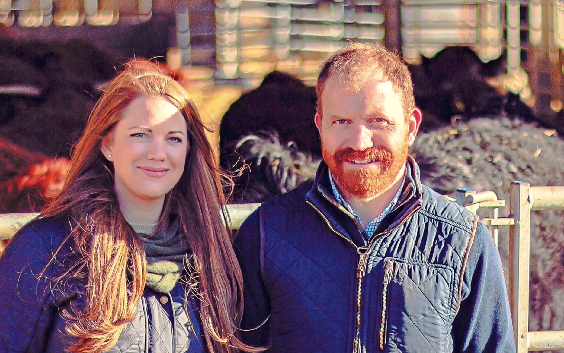 Jilly Grant and Murdoch Duncan from Herd Advance.
