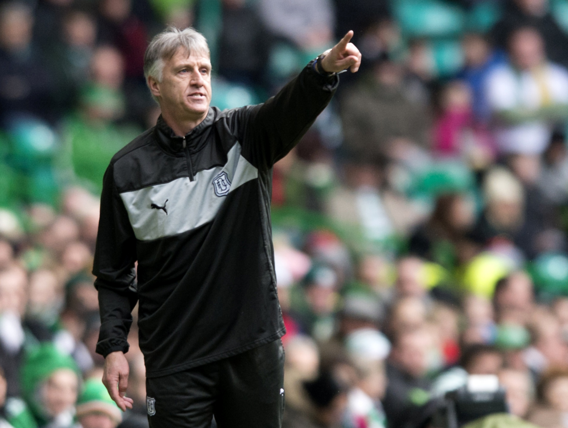 Ray Farningham directs the Dee at Celtic Park.