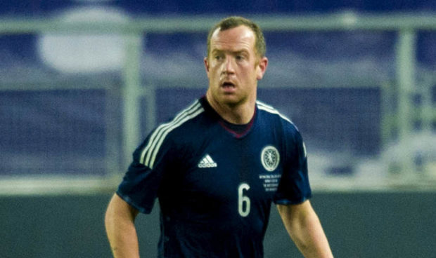 Charlie Adam in action for Scotland against Norway.