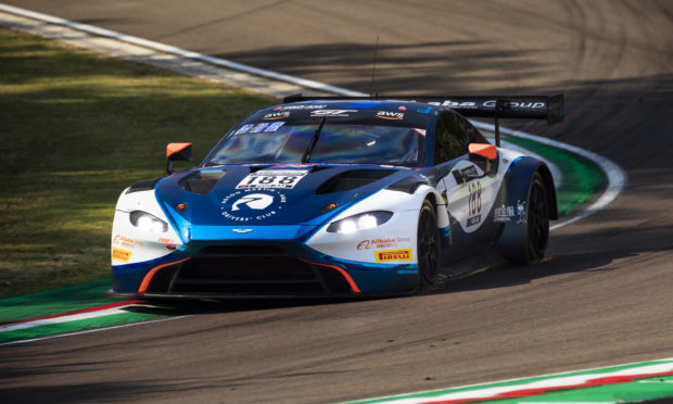 Jonny Adam on his way to victory in the Aston Martin Vantage GT3 at Imola.