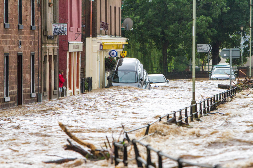 Alyth suffered severe floods in 2015.