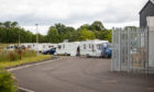 Over a dozen traveller caravans have parked up at the industrial estate at Arran Road in North Muirton in Perth.