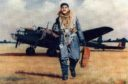 PO Bob Pearman with the HP Hampden bomber. He was one of the majority of No 8 Course picked to train for bombers.