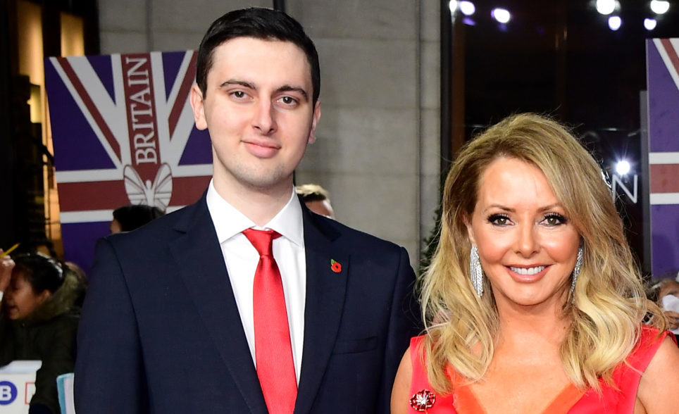 Carol Vorderman and her son Cameron King.