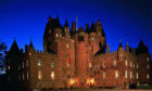 Glamis Castle by night.