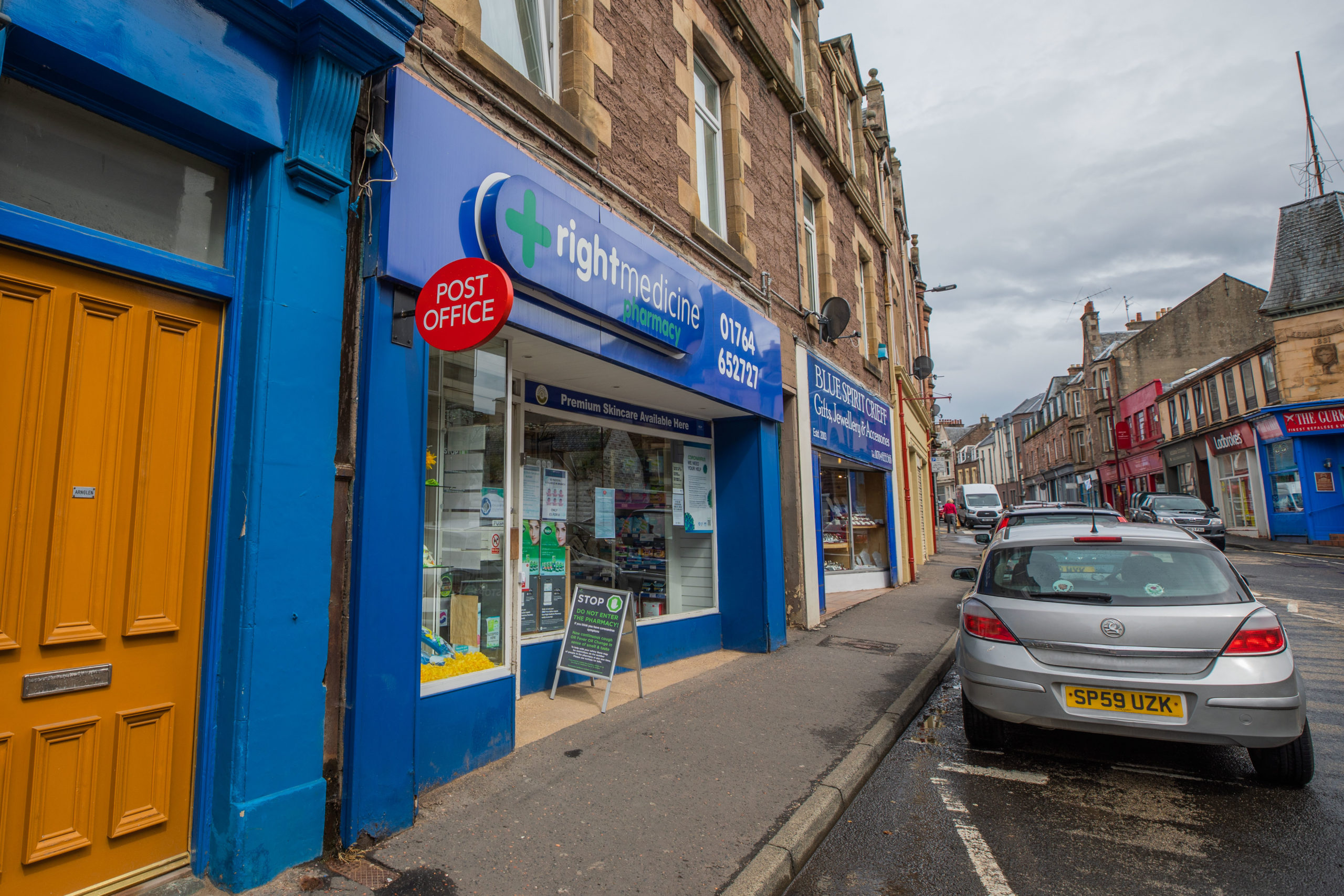 The Post Office at Right Medicine Pharmacy, Crieff. Picture: Steve MacDougall.