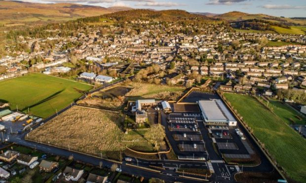 The B&M site in Crieff