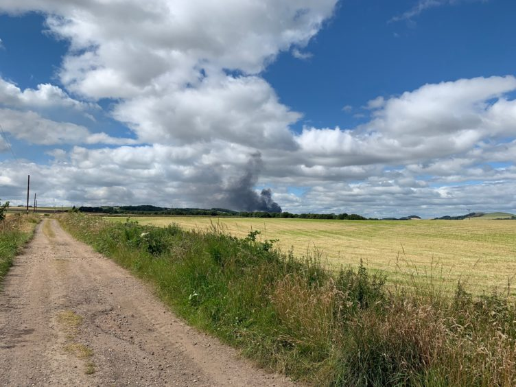 The fire viewed from Kincaple, near St Andrews.