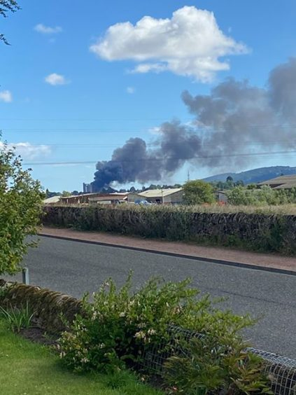 The fire viewed from Cupar Muir.