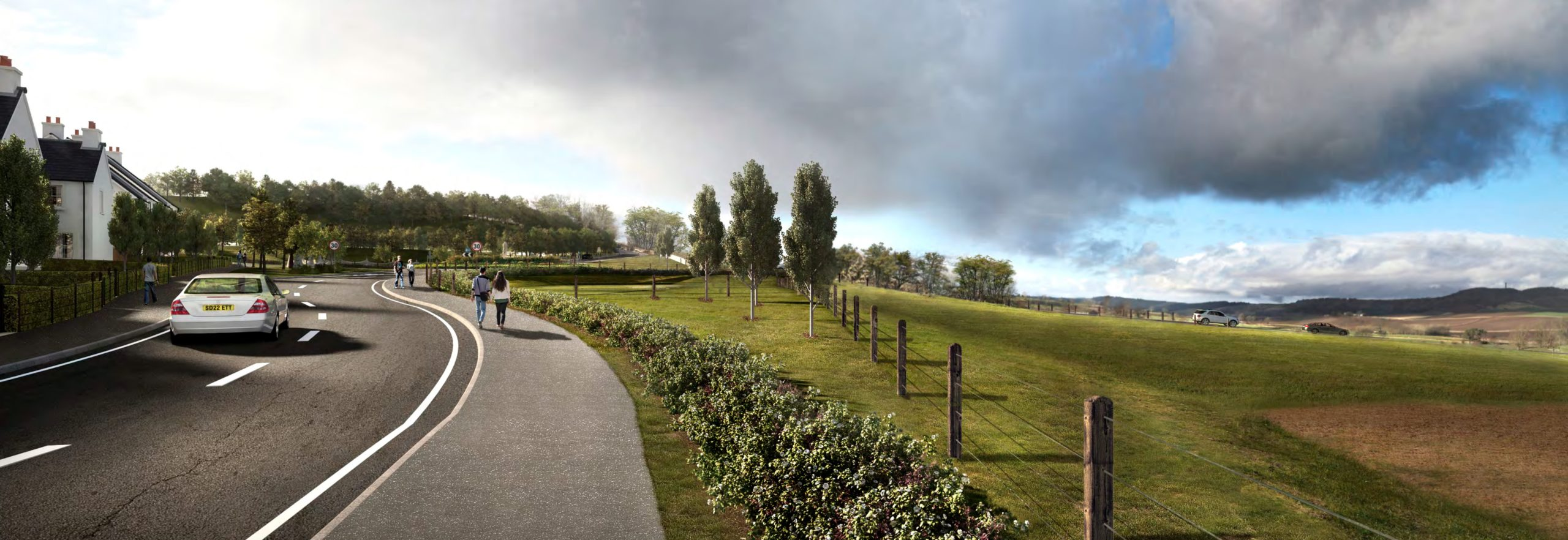 Artist's impression of the development.