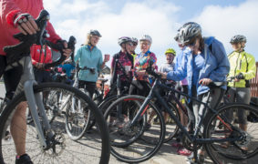 Cyclists ready to go at the Angus Cycling Festival in June 2019.