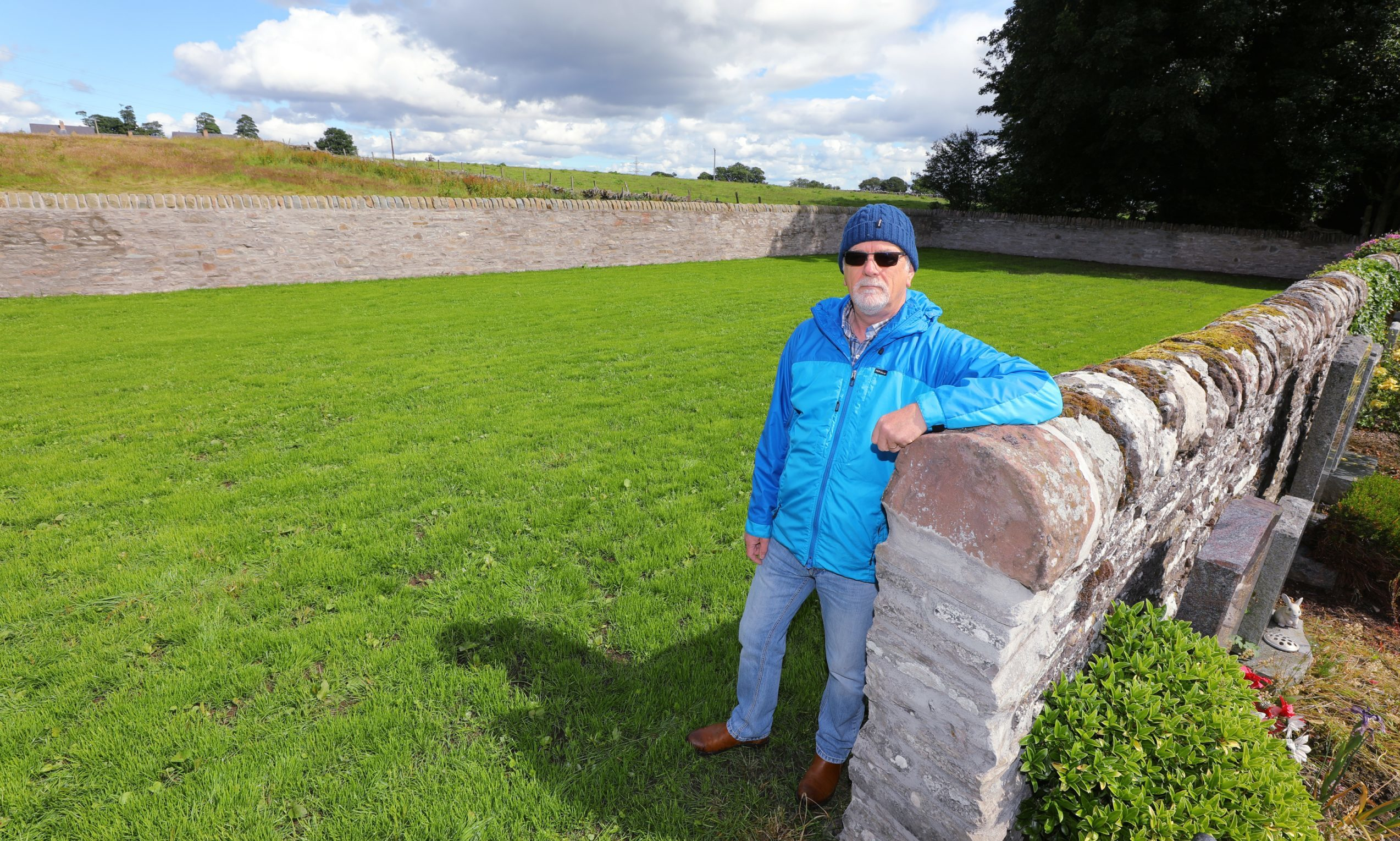 Former Aberlemno community councillor Paul Duncan at the new cemetery extension.