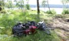 Mess left behind by some of the 'dirty campers' at the side of Loch Rannoch on Sunday morning.