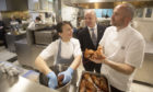 Lorna McNee,Dale Dewsbury and Stevie McLaughlin of Andrew Fairlie restaurant
