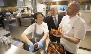 Lorna McNee,Dale Dewsbury and Stevie McLaughlin of Andrew Fairlie restaurant