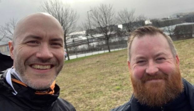 Paul McNicoll and Andy Crichton will walk more than 60 miles from Dundee to Edinburgh.