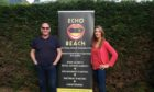 Paul McGregor and Elaine Carlin of Dundee music duo Echo Beach.