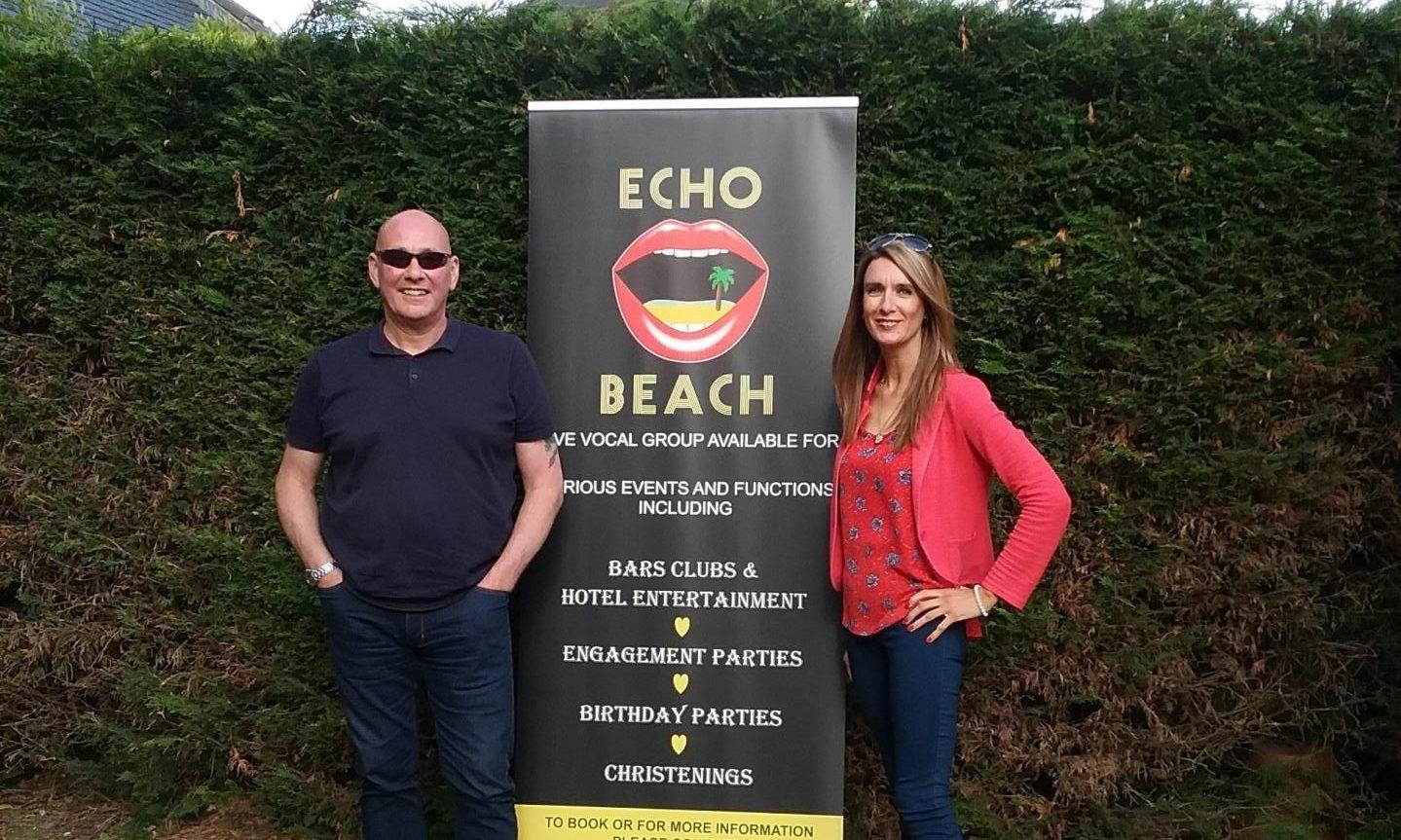 Paul McGregor and Elaine Carlin of Dundee music duo Echo Beach.