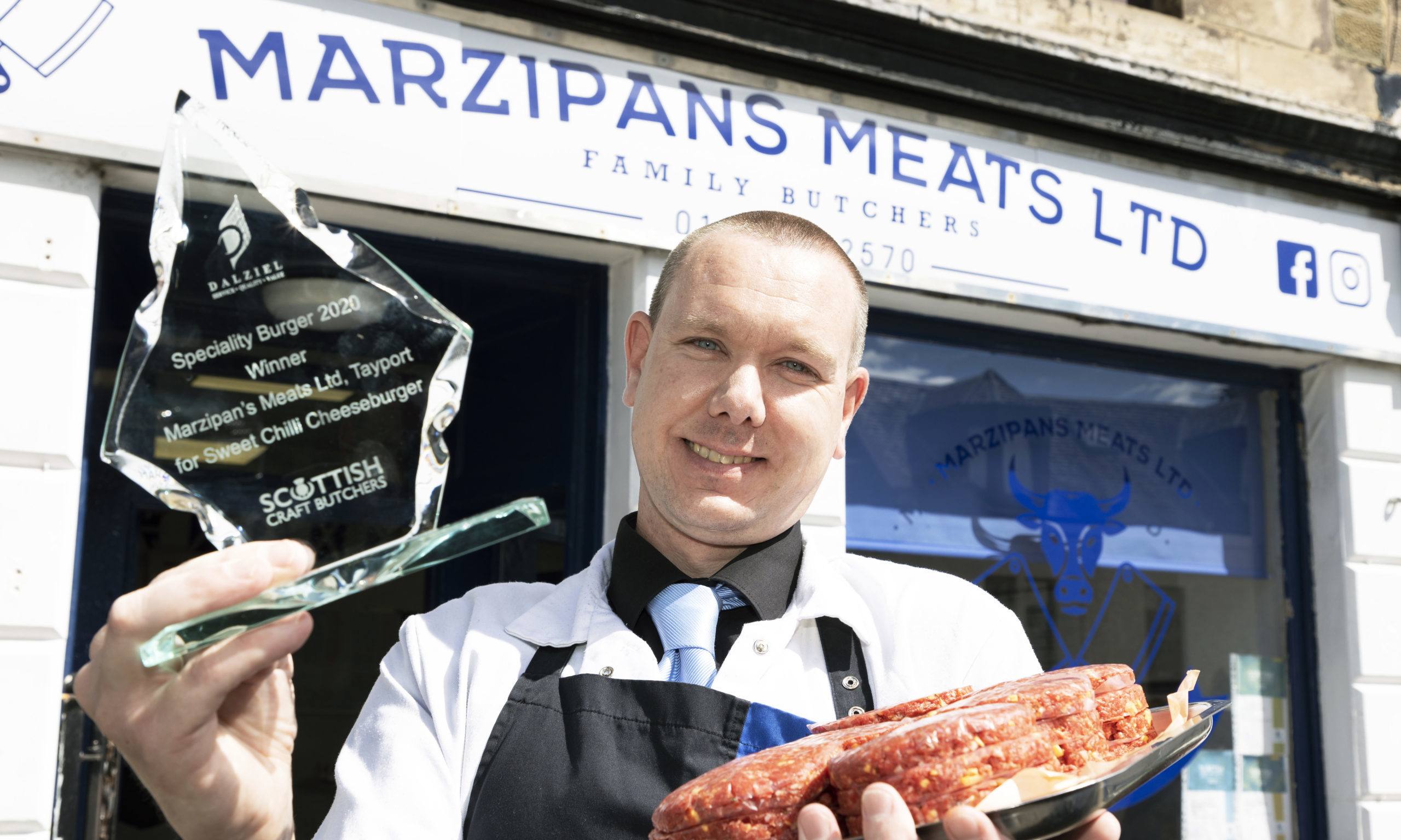 Paul Marzinik of Marzipans Meats in Tayport.