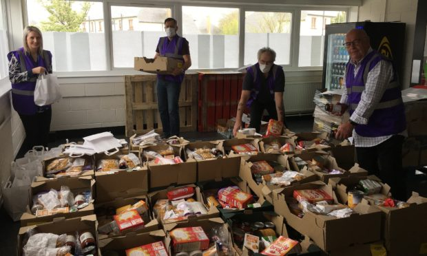 Thousands of emergency food packages were sent out to shielding Angus residents.