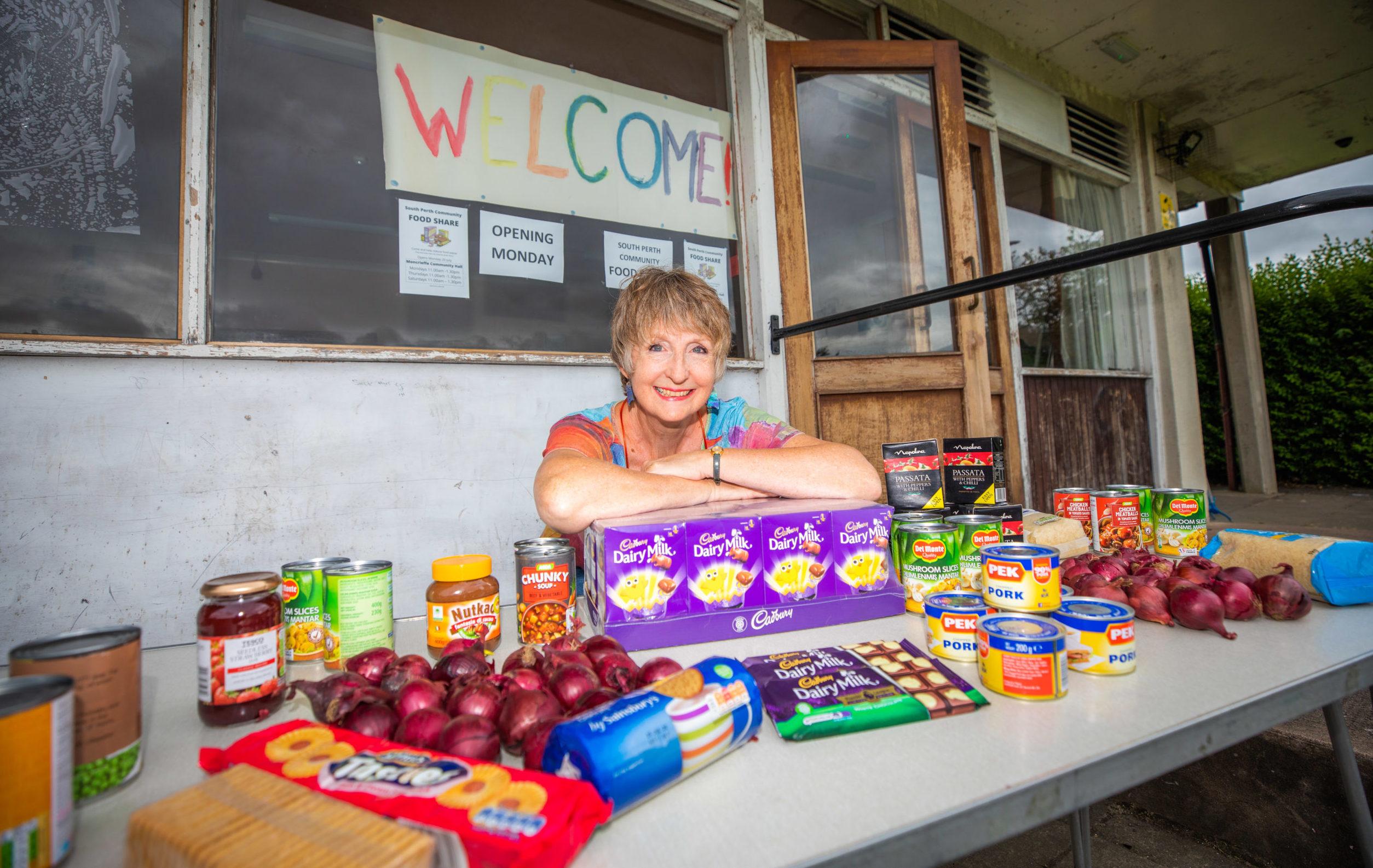 Liz Barrett at the new Food Share hub in Perth