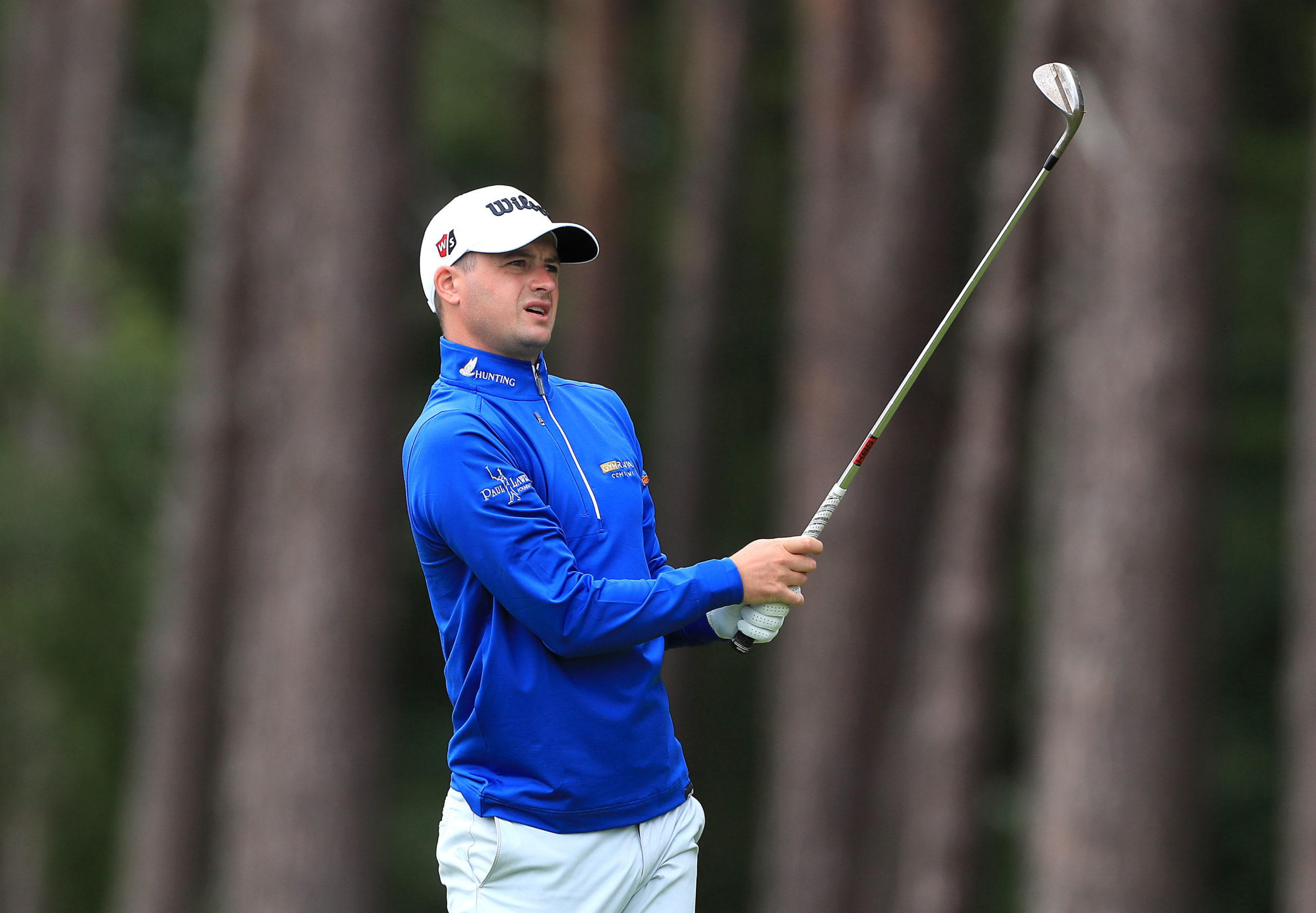Scotland's David Law on the 16th during day one of the Betfred British Masters at Close House.
