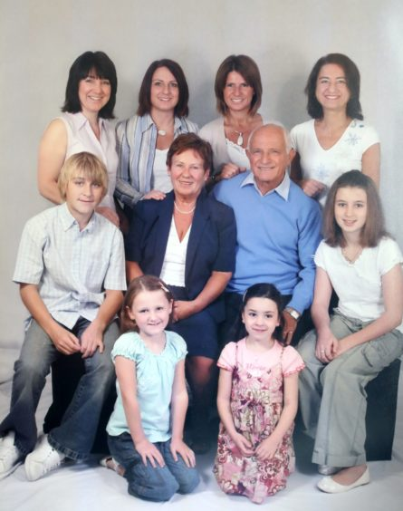 Betty and Peppino Lapadula with daughters and grandchildren.