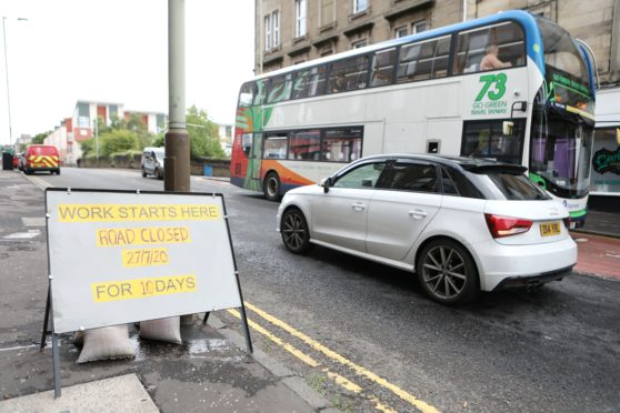 Diversions will be in place from Monday on Arbroath Road near Albert Street