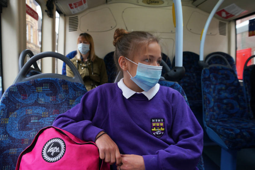 School children will not need to wear face masks on school buses.