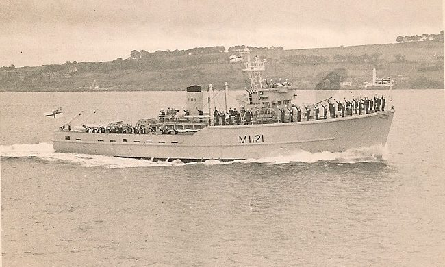 HMS Montrose off the coast of Tayport.