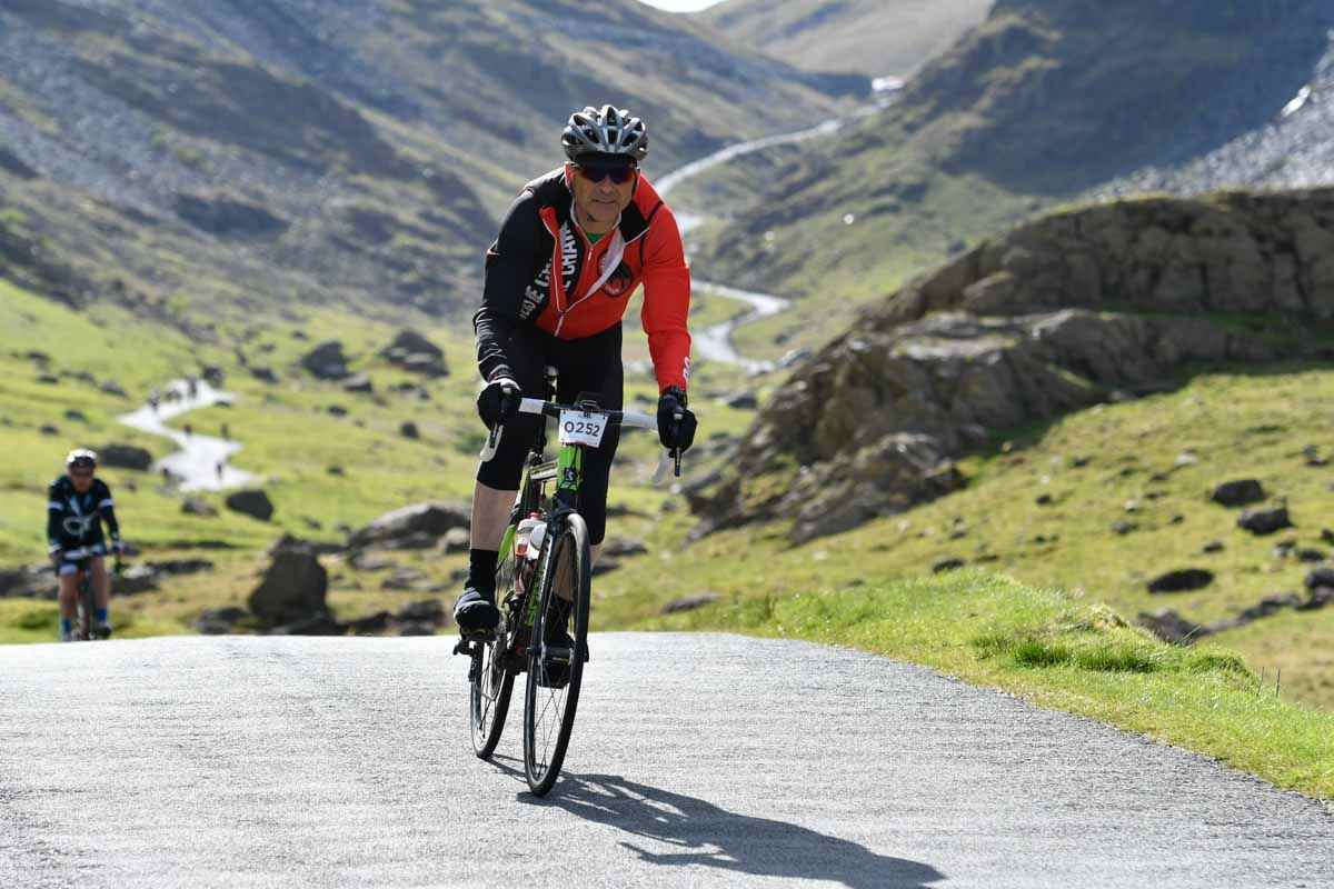 John Bremner on a cycle in the Lake District.