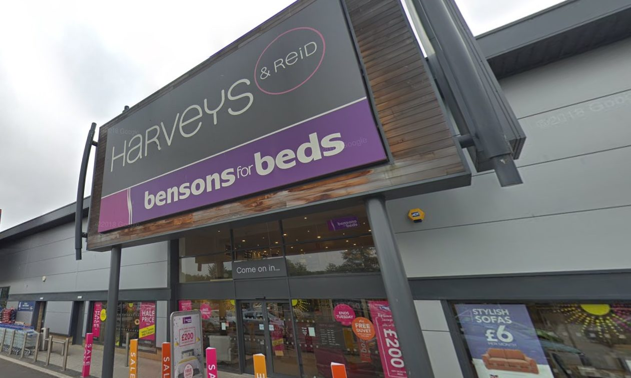 Harveys and Bensons for Beds in Dunfermline. Picture: Google