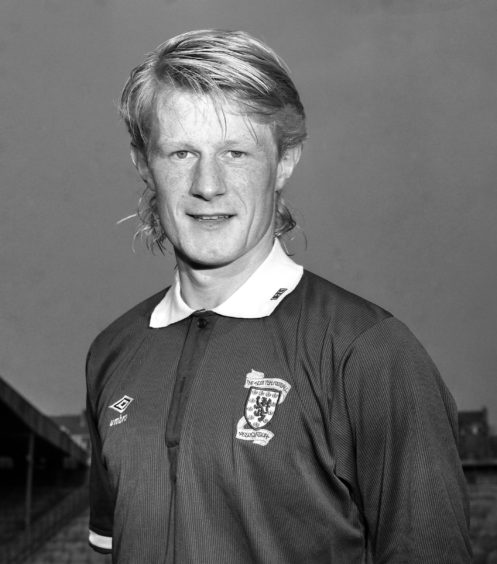 Colin Hendry - pictured in season 1989/90 - captained Scotland at 98 World Cup in France