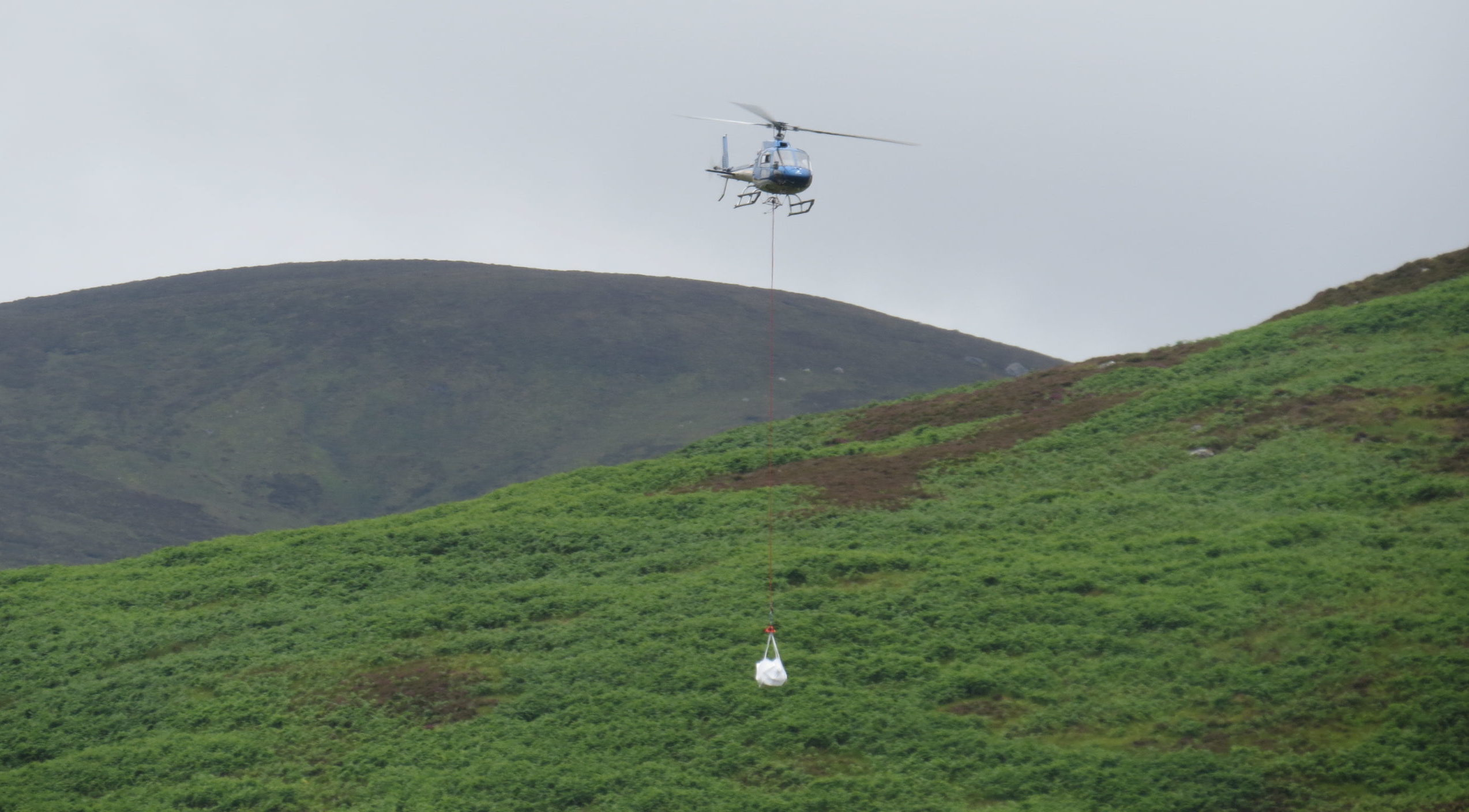 Materials were airlifted into Schiehallion this week.