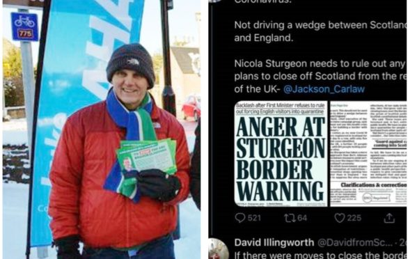 Councillor Illingworth tweeted the message earlier this week.