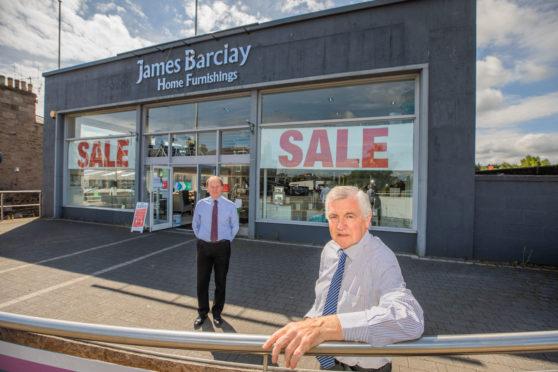 James Barclay (right) and manager John Hodge at James Barclay Home Furnishings, Perth.