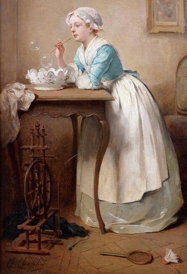 Soap Bubbles (Les bulles de savon) Charles Joshua Chaplin, 1864.