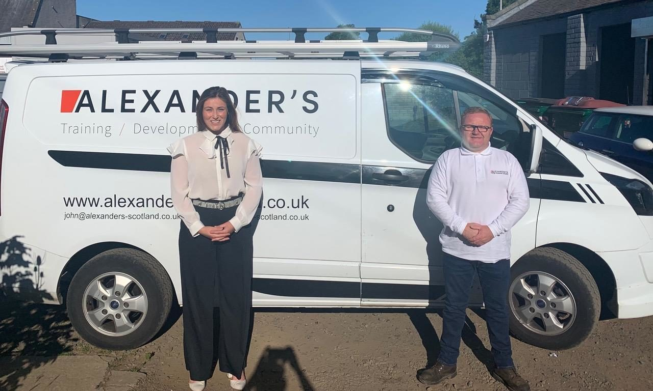 Kara Swankie, centre manager (left) with John Alexander - chief executive officer (right).