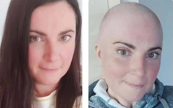 Julie Foubister raised funds for Breast Cancer Now during her chemotherapy treatment.